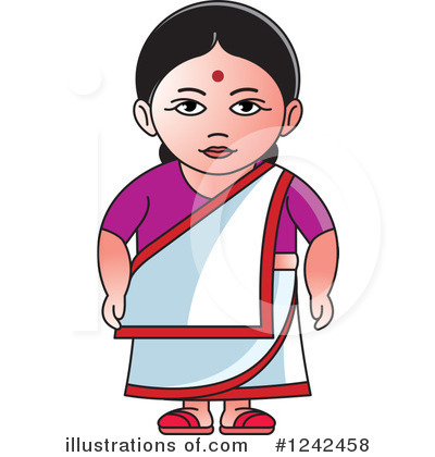 Royalty-Free (RF) Indian Woman Clipart Illustration by Lal Perera - Stock Sample