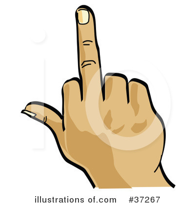 Royalty-Free (RF) Middle Finger Clipart Illustration by Andy Nortnik - Stock Sample