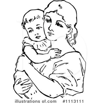 Royalty-Free (RF) Mother Clipart Illustration #1113111 by Prawny Vintage