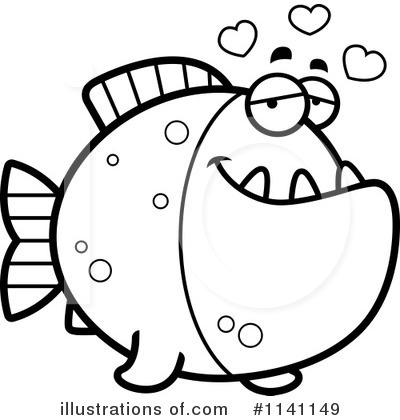 Royalty-Free (RF) Piranha Clipart Illustration #1141149 by Cory Thoman