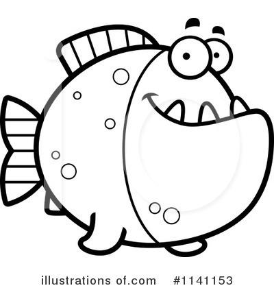 Royalty-Free (RF) Piranha Clipart Illustration #1141153 by Cory Thoman