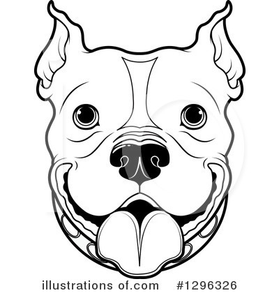 Royalty-Free (RF) Pitbull Clipart Illustration #1296326 by Pushkin