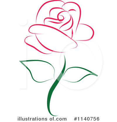 Royalty-Free (RF) Rose Clipart Illustration #1140756 by Vitmary Rodriguez
