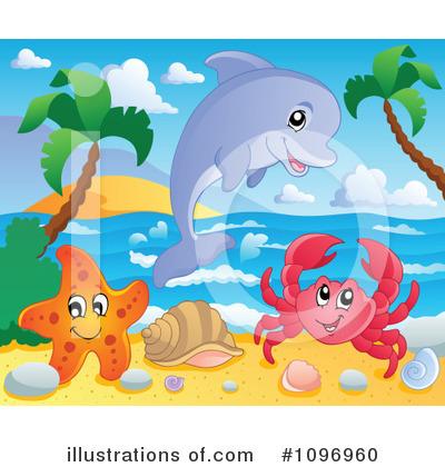 Royalty-Free (RF) Sea Life Clipart Illustration #1096960 by visekart