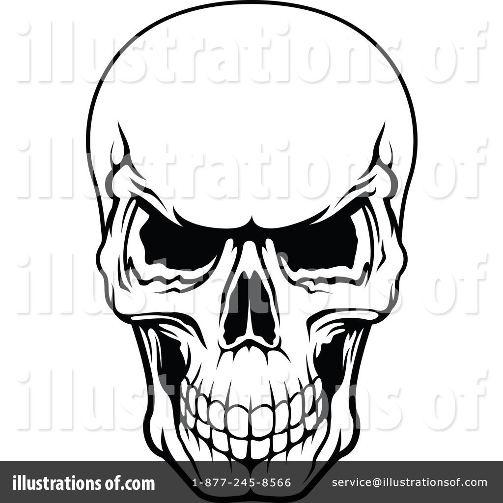 Royalty-Free (RF) Skull Clipart Illustration by Vector Tradition SM - Stock Sample