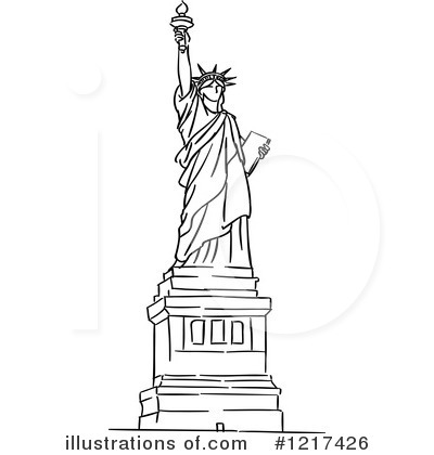 Royalty-Free (RF) Statue Of Liberty Clipart Illustration #1217426 by Vector Tradition SM