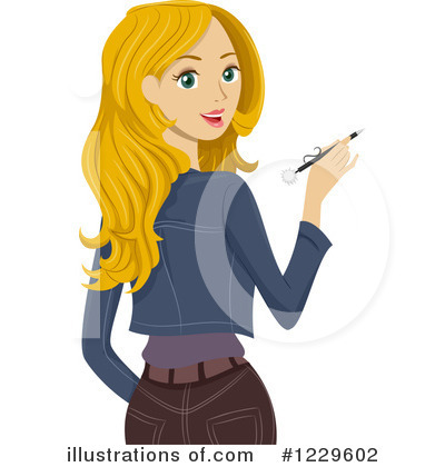 Royalty-Free (RF) Teen Girl Clipart Illustration #1229602 by BNP Design Studio