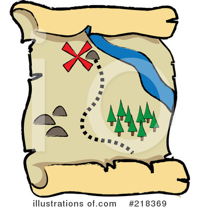 Royalty-Free (RF) Treasure Map Clipart Illustration by Pams Clipart - Stock Sample