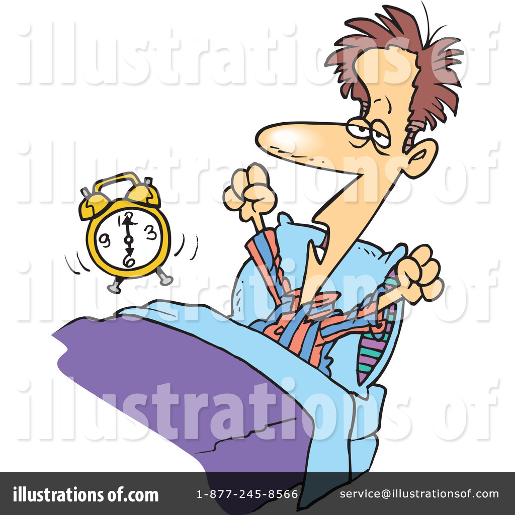 Royalty-Free (RF) Waking Up Clipart Illustration by Ron Leishman - Stock Sample