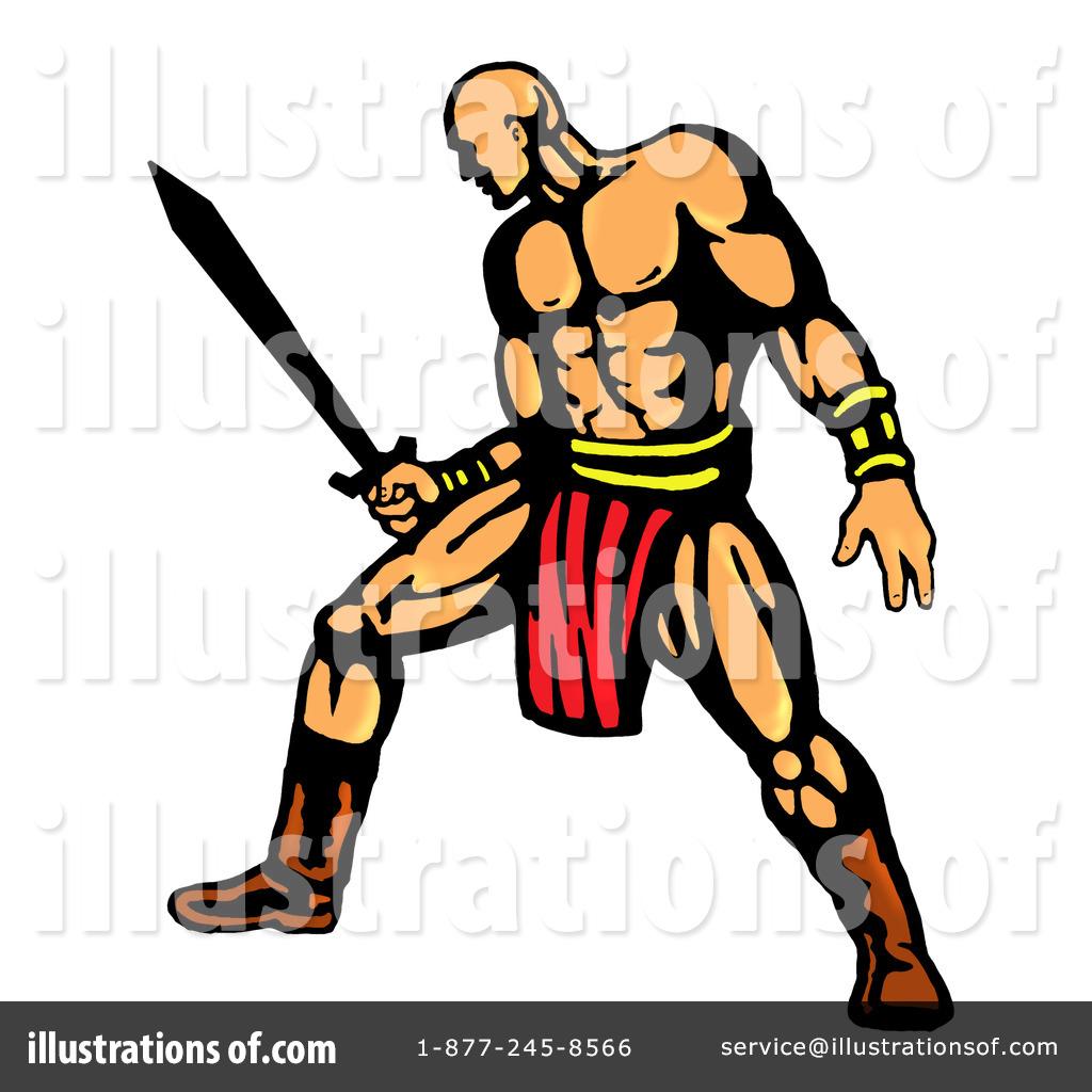 Royalty-Free (RF) Warrior Clipart Illustration #85178 by patrimonio