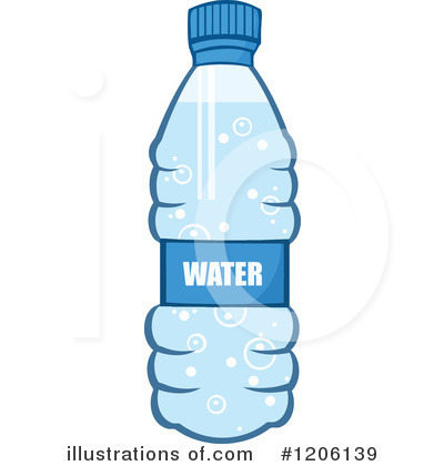Royalty Free Rf Water Bottle Clipart Illustration 1206139 By Hit