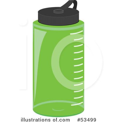 Royalty-Free (RF) Water Bottle Clipart Illustration by David Barnard - Stock Sample