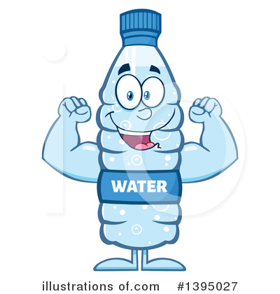 Royalty-Free (RF) Water Bottle Clipart Illustration by Hit Toon - Stock Sample