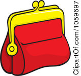 Royalty Free Vector Clip Art Illustration Of A Red Coin Purse