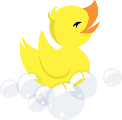 Floating clipart rubber ducky #1