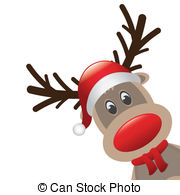 ... rudolph reindeer red nose and hat scarf