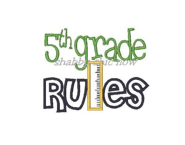 Rule 5th Graders Clipart #1