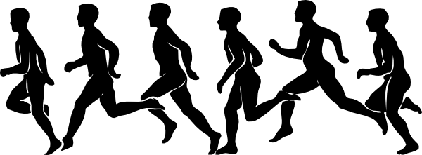 Runner running exercise clip art at vector clip art