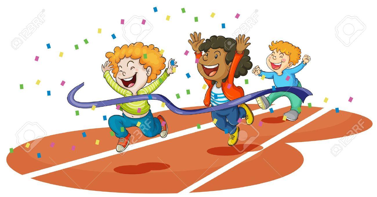 running race: illustration of .