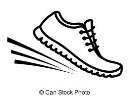 Running shoes icon .
