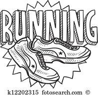 Running sports sketch