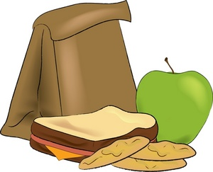 Sack lunch clipart