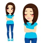 sad lonely girl clipart