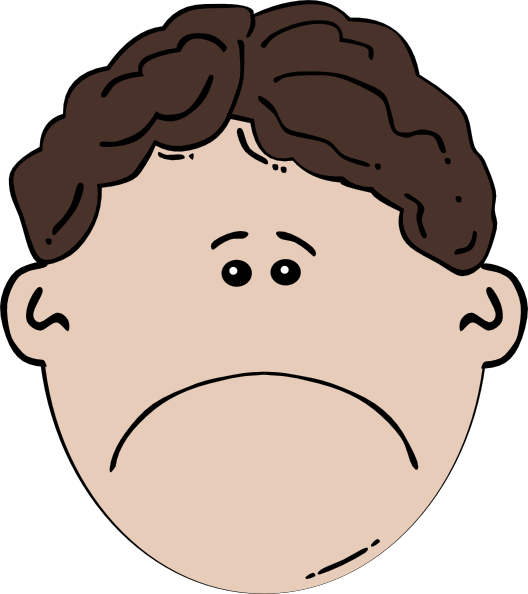 Sad Face Clipart 12