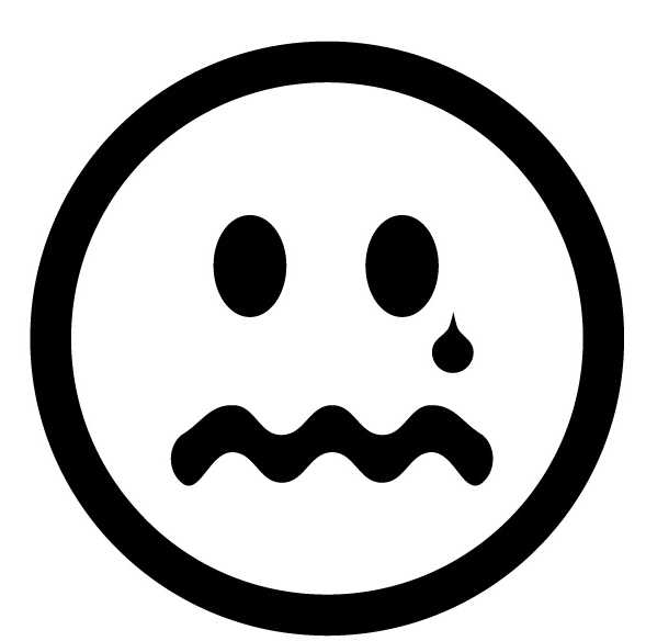 Sad face clipart black and white free clipart images