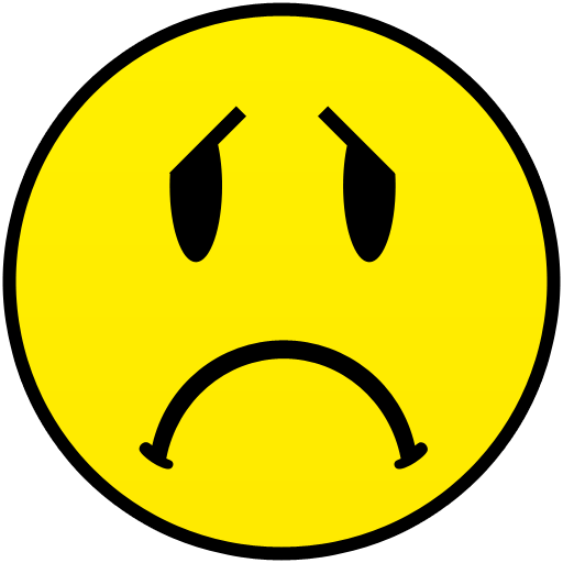 Sad face clipart no background