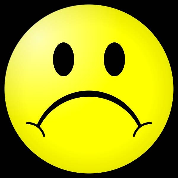 Sad Smiley Face Clip Art. Frowny Face Clip Art