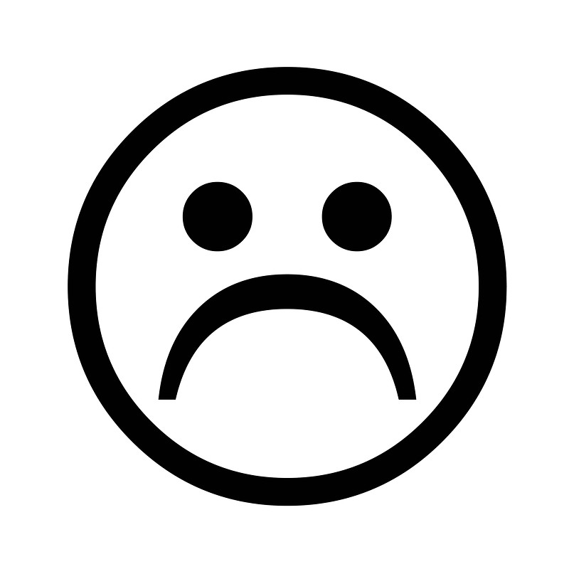 Smiley face black and white sad face black and white free Sad Face Clipart clip art