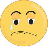 sad girl isolated face; sad smiley face ...