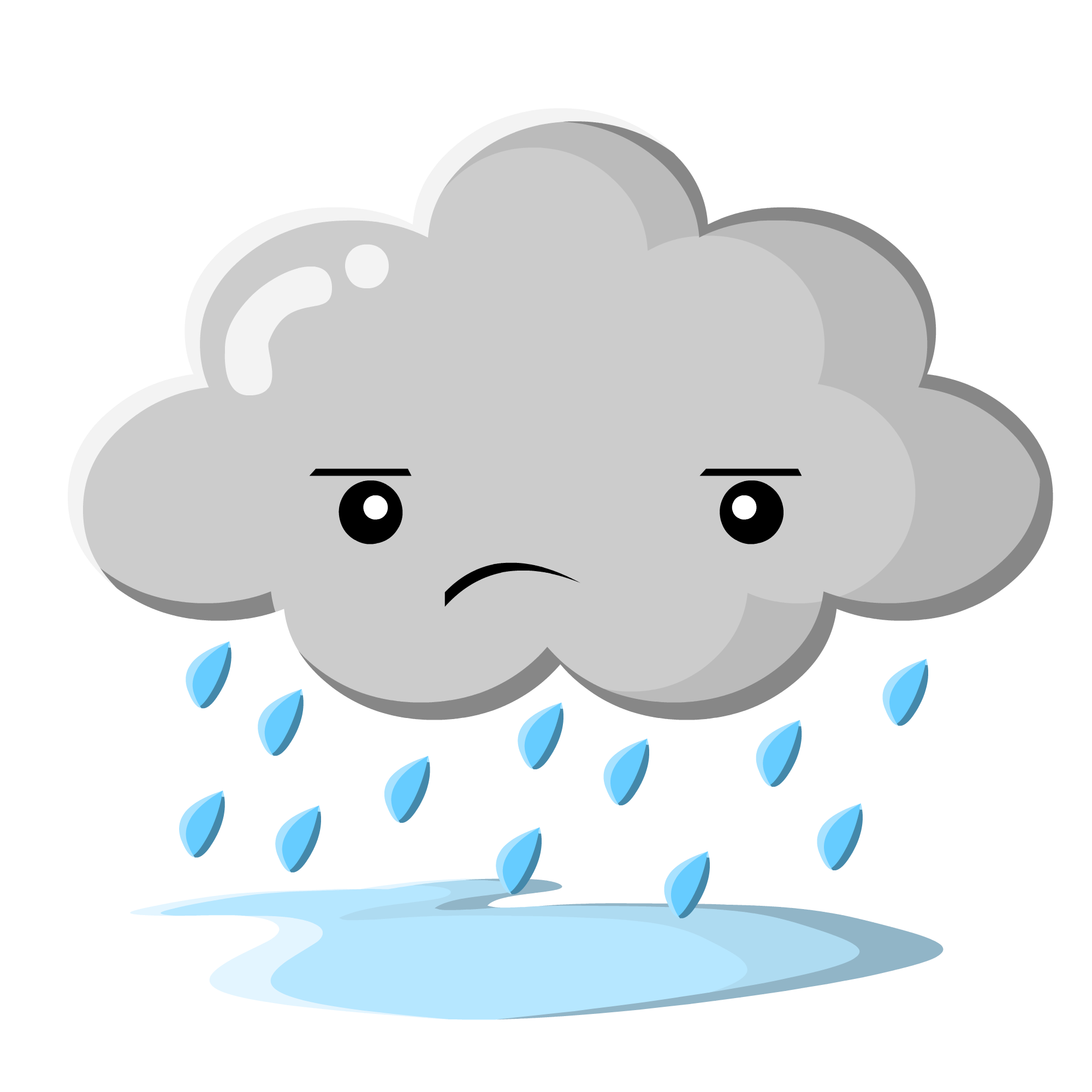 Sad Rain Cloud Clip Art Free .
