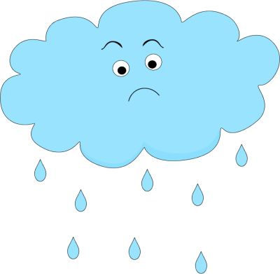 Sad Rain Cloud   Clip Art-Weather   Pinterest   Rain clouds, Art and Sad