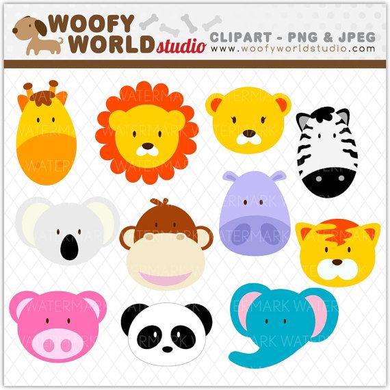 Safari Animal Clipart Instant Download Digital Clip Art Wa001c2a