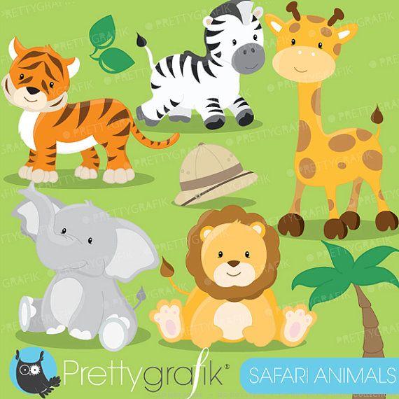 Safari Animals clipart commercial use, Jungle animals vector graphics, digital clip art, digital images - CL616 | Jungle animals, Digital image and Clip art