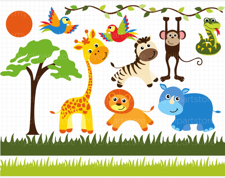 Safari Clipart Animals Lion