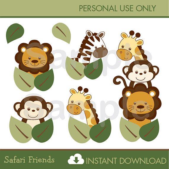 Safari Safari Friends Baby Animals Clipart Jungle Animals Clipart