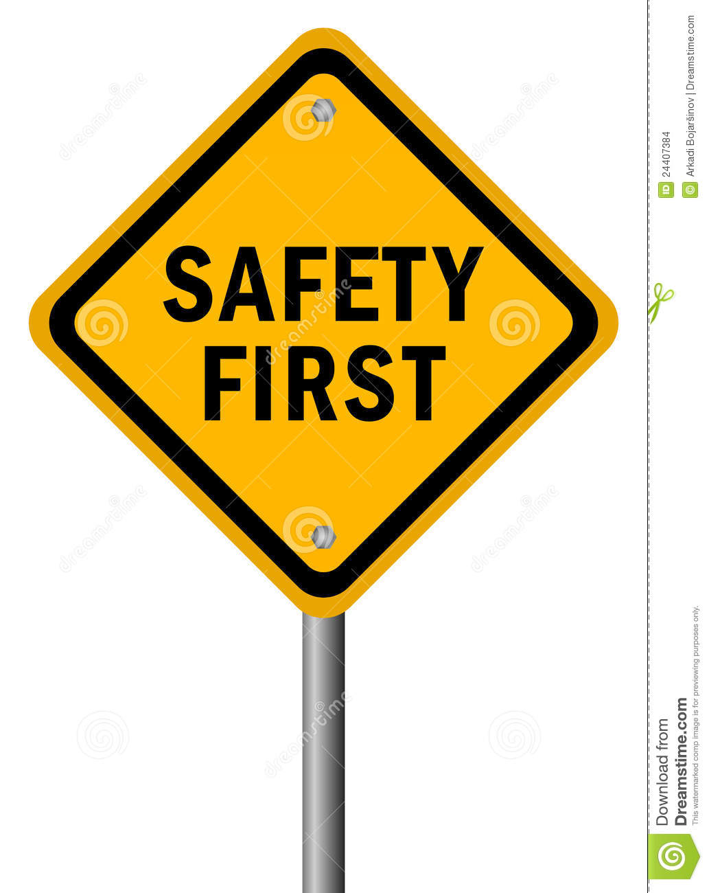 Safety First Clipart Safety First Sign