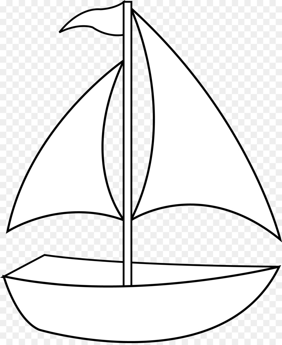 Clip Art: Transportation Black and white Drawing Clip art - Simple Boat  Cliparts 3901*4744 transprent Png Free Sailboat Clipart Black And White - Line Art, Plant, Leaf.