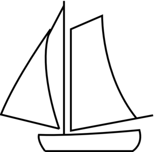 Sailboat Black And White Clipart #1