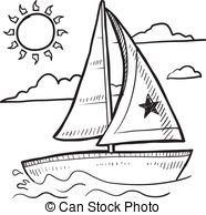 . Hdclipartall.com Sailboat Sketch - Doodle Style Sketch Of A Sailboat Vacation.