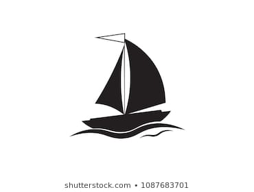 Sea travel symbol isolated on white background.ship icon - vector sailboat  illustration EPS10.