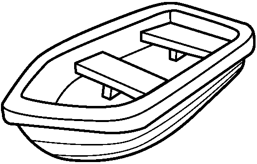 speed boat clipart black and white