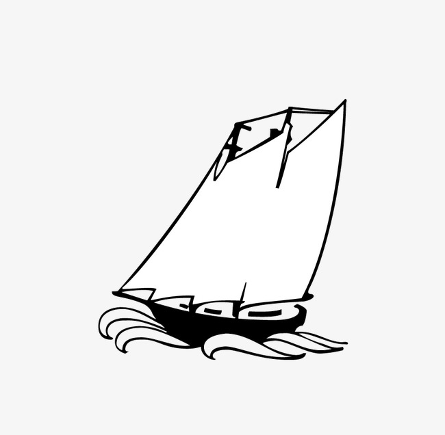 white sailboat, Sailboat Clipart, Black And White, Sailboat PNG Image and  Clipart