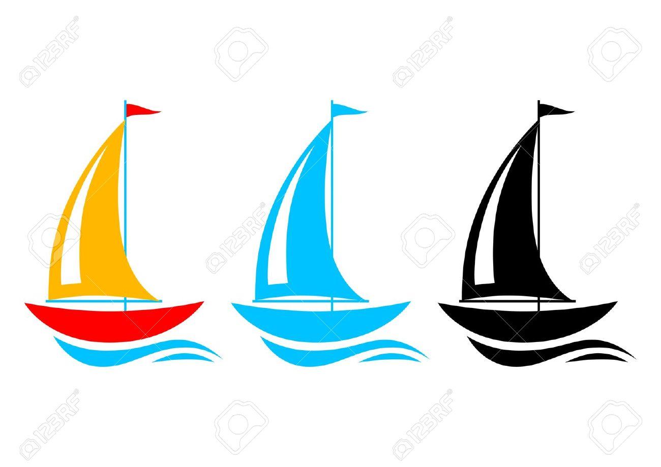 Sailboat clipart vector .