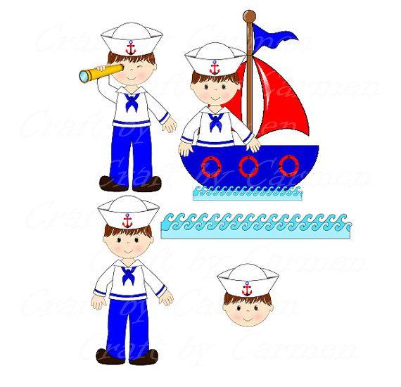 Sailor clip art, boat, baby boy, cute sailor, ahoy, baby shower