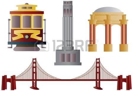 san francisco: San Francisco Golden Gate Bridge Trolley Coit Tower and Palace of Fine Arts