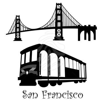 San Francisco Trolley Clipart .